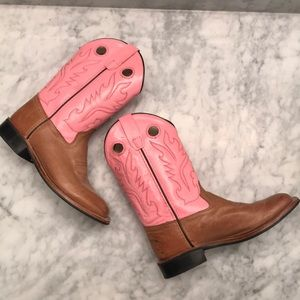 Other - Pink & Tan Cowgirl Boots!